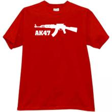 New! AK47 Cool weapon t-shirt in red