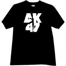 AK-47 KALASHNIKOV Russian famous rifle t-shirt in black