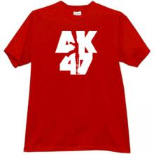 AK-47 KALASHNIKOV Russian famous rifle t-shirt in red