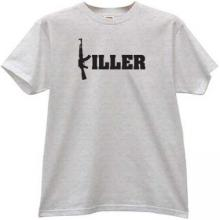 Ak47 Killer T-shirt in gray