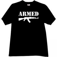 ARMED Kalashnikov T-shirt in black