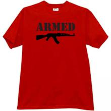 ARMED Kalashnikov T-shirt in red