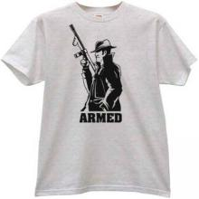 ARMED Mafia Retro T-shirt in gray