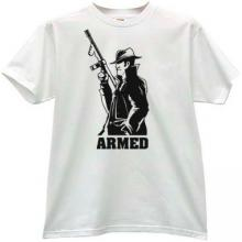 ARMED Mafia Retro T-shirt in white