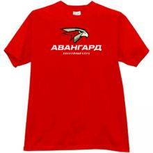 Hockey Club Avangard Omsk Russian T-shirt in red