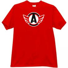 Avtomobilist Ekaterinburg Hockey Club Russian T-shirt in red