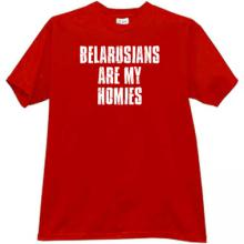 Belarusians are my Homies Cool T-shirt in red