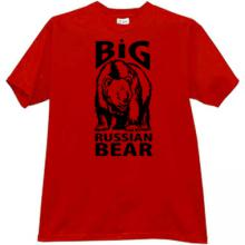 Big Russian Bear T-shirt in red