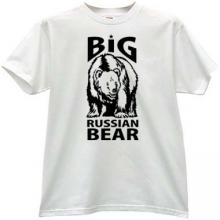 Big Russian Bear T-shirt in white