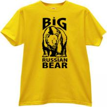 Big Russian Bear T-shirt in yellow