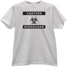 Caution Biohazard Cool T-shirt in gray