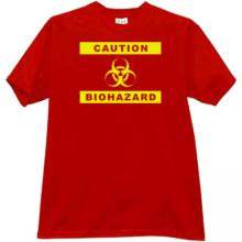 Caution Biohazard Cool T-shirt in red