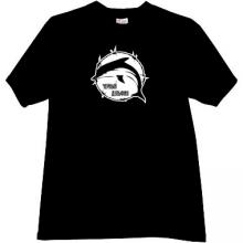 Black Dolphin Russian Prison logo T-shirt in black