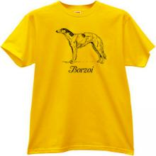 Borzoi T-shirt in yellow