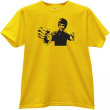 Bruce Lee T-shirt in yellow