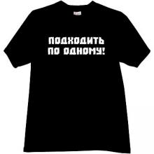 Approach on One!  Cool Russian T-shirt in black