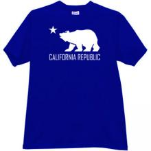 California Republic T-shirt in blue