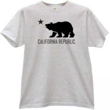 California Republic T-shirt in gray
