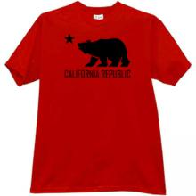 California Republic T-shirt in red