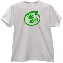 Cannabis Inside Funny T-shirt in gray