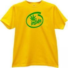 Cannabis Inside Funny T-shirt in yellow