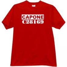 Capone Mafia t-shirt in red