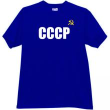 CCCP T-shirt imp in blue