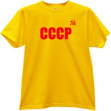 CCCP T-shirt imp in yellow