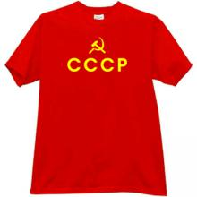 CCCP USSR Russian emo T-shirt in red