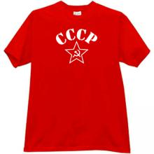 CCCP with Soviet Star Russian T-shirt in red