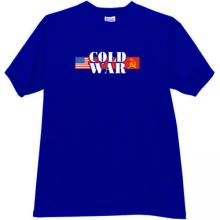 Cold War USA vs USSR  T-shirt in blue