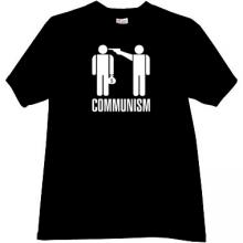 Communism - kill the rich T-shirt in black