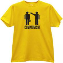 Communism - kill the rich T-shirt in yellow