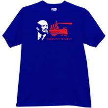 Communism with Lenin - Russian Patriotic T-shirt in blue