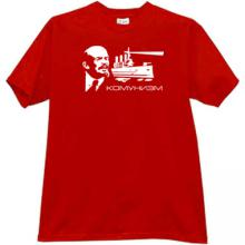 Communism with Lenin - Russian Patriotic T-shirt in red