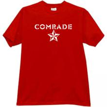 New! COMRADE Soviet T-shirt in red