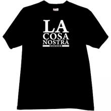 LA Cosa Nostra Member Cool Mafia t-shirt in black