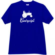 Countrystyle Funny T-shirt in blue