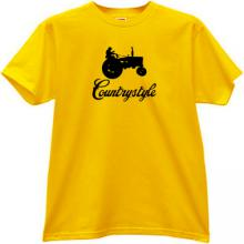 Countrystyle Funny T-shirt in yellow