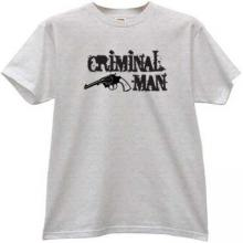 Criminal Man with Gun Mafia T-shirt