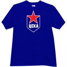 CSKA Moskow Russian Hockey Club T-shirt in blue