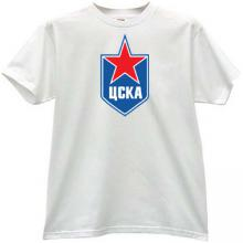 CSKA Moskow Russian Hockey Club T-shirt in white