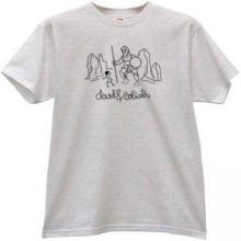 David and Goliath Christian T-shirt in gray
