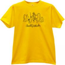 David and Goliath Christian T-shirt in yellow