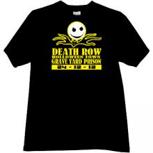 Death Row Halloween Town T-shirt in black