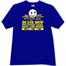 Death Row Halloween Town T-shirt in blue