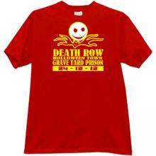 Death Row Halloween Town T-shirt in red