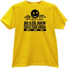 Death Row Halloween Town T-shirt in yellow