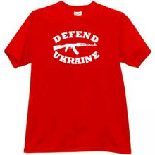 Defend Ukraine AK-47 Kalashnikov T-shirt in red