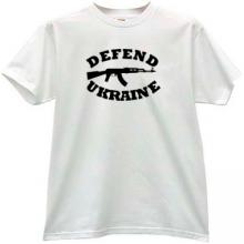 Defend Ukraine AK-47 Kalashnikov T-shirt in white